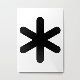 X Y Z Metal Print