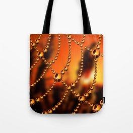 Web of Liquid Gold Tote Bag