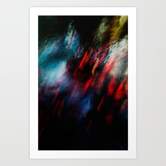 Abstract goldfish_02 Art Print