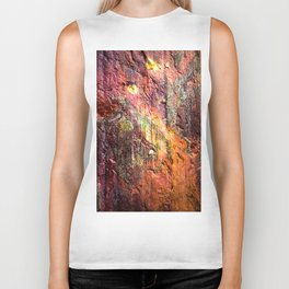 Colorful Nature : Texture Warm Tones Biker Tank