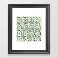 Dinosaurs & Leaves Framed Art Print