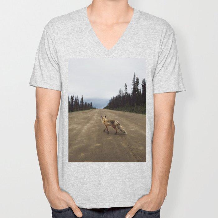 Road Fox Unisex V-Neck