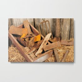 Rusted tools Metal Print