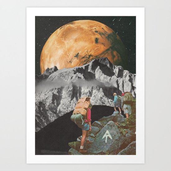 Night Hike Art Print