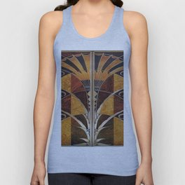 Art nouveau,Original wood work, elevator door, NYC Building Unisex Tank Top
