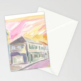 Charlestown Nevis Sunset Street Scene in the Caribbean Stationery Cards