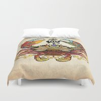 cancer Duvet Covers featuring Cancer crab by Công Thành