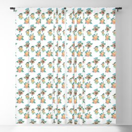 Tropical drinks mid-century style Blackout Curtain