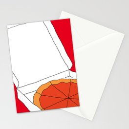 Hot Pizza Box Stationery Cards