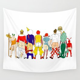 Fast Food Butts Mascots Wall Tapestry
