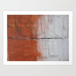 Broken Bridges Art Print