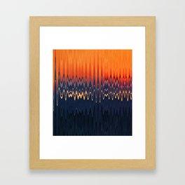 Sunset in Waves Framed Art Print