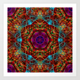 Magical vibrant web Art Print