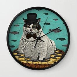 Fat Cat Print Wall Clock