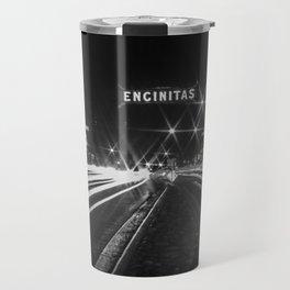 Encinitas sign long exposure Travel Mug