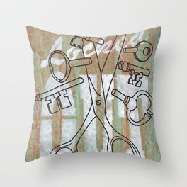 Locked Out? get some more keys cut yeah! Throw Pillow