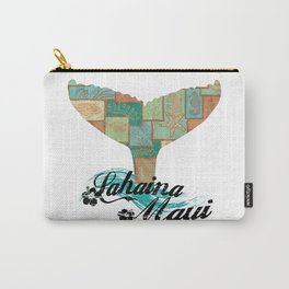 Lahaina,Maui Tapa Tribal Whales Tail Carry-All Pouch