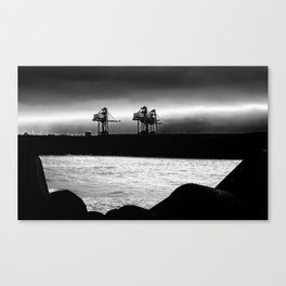 Cranes at Port Talbot Canvas Print