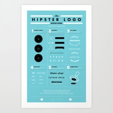 The Hipster Logo Design Guide Art Print