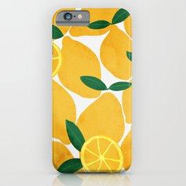 lemon mediterranean still life iPhone Case