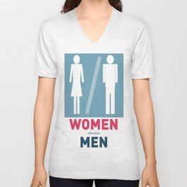Women Men Unisex V-Neck