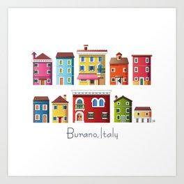 Burano, Italy (pattern) Art Print