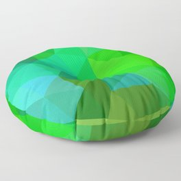 Emerald Low Poly Floor Pillow