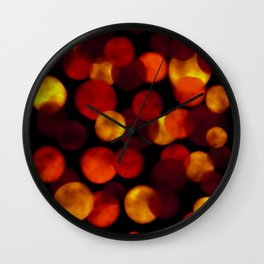Red and Yellow Balls Wall Clock
