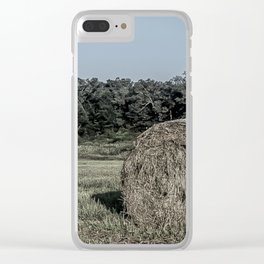 Hay Bales Clear iPhone Case