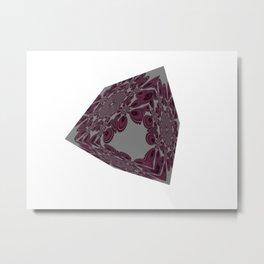 Cubed Pattern Metal Print