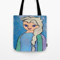 elsa Tote Bags featuring Elsa! by Izzy Tan