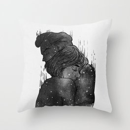 Growing Love black and white. Throw Pillow