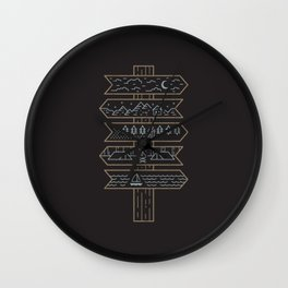 Choose Your Own Adventure Wall Clock