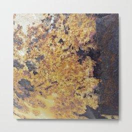 Rusty Metal Surface Texture Metal Print