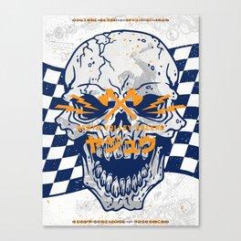Death Valley Racers (Navy Orange) Canvas Print