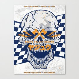 Death Valley Racers (Navy Orange) Canvas Print