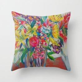 Big Bold Blooms Throw Pillow