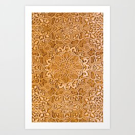 Alhambra lace carving Art Print