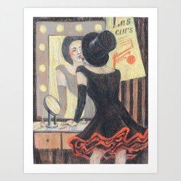 circus lady Art Print
