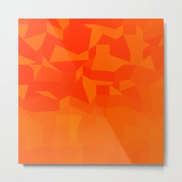 Fire Red Abstract Low Polygon Background Metal Print