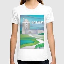 Galway, Ireland - Skyline Illustration by Loose Petals T-shirt