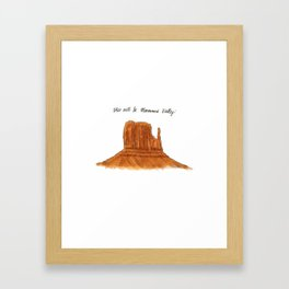 Valley of Monuments with Color  Framed Art Print