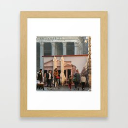 Pantheon of Rome Locals's View Framed Art Print