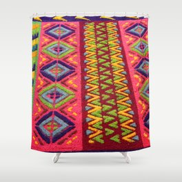 Colorful Guatemalan Alfombra Shower Curtain