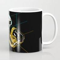 daft punk Mugs featuring Daft Punk by Naje Anthony Hart