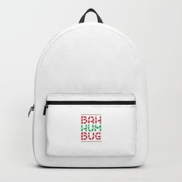 Bah Humbug Funny Candy Cane Christmas Hate Long Sleeve Cool Humor Pun Gift Design Backpack