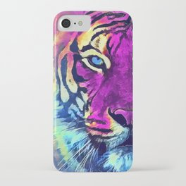 tiger purple spirit #tiger iPhone Case