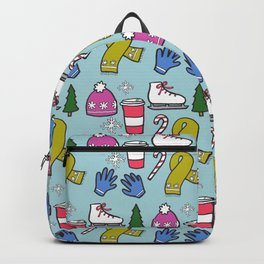 Winter Print Backpack