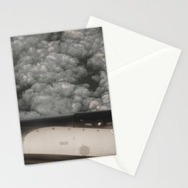 Metal and clouds Stationery Cards