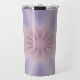 Pink and Lilac 3D Flower Three Travel Mug